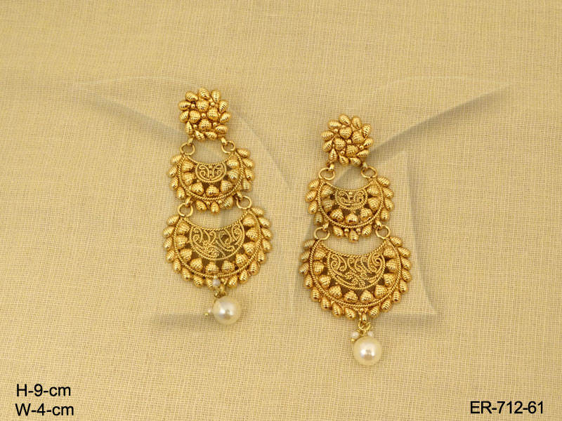 golden for traditional collection baali pure dilan jewellery antique jadau indian women jewels earrings pachi style multicoloured