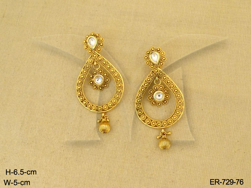 Antique Earrings Paanshape Gold Design Jewelry Designer Plated Jewellery Imitation