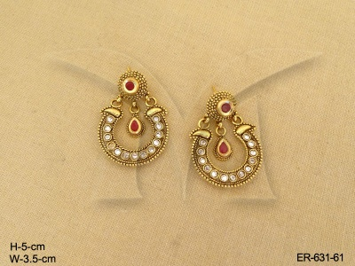 Antique Jewellery  Gold Plated Multi Color Stone Enamel Antique Earring | Manek Ratna - Antique Jewelry | Designer Gold Plated Jewellery | Imitation ... & Antique Jewellery  Gold Plated Multi Color Stone Enamel Antique ...