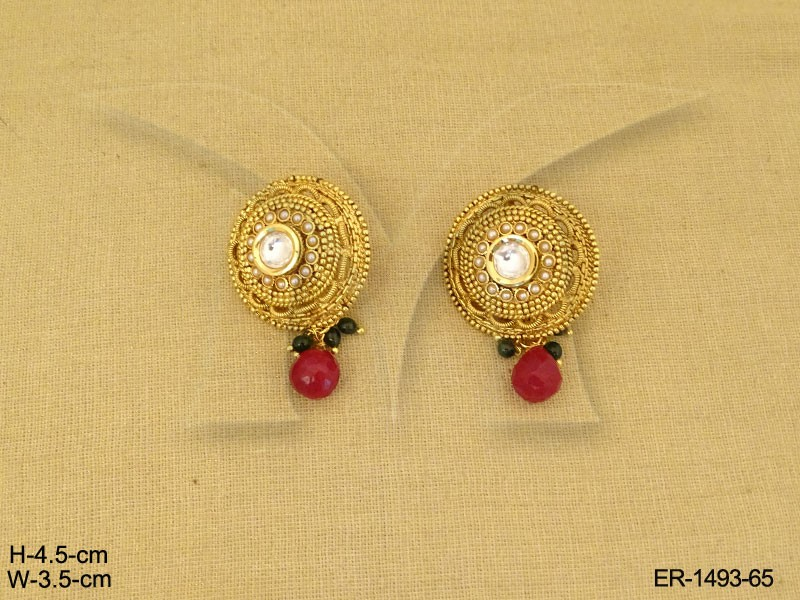 Antique Jewellery , Latest Beautiful Gold Round Ear Ring Designs ...
