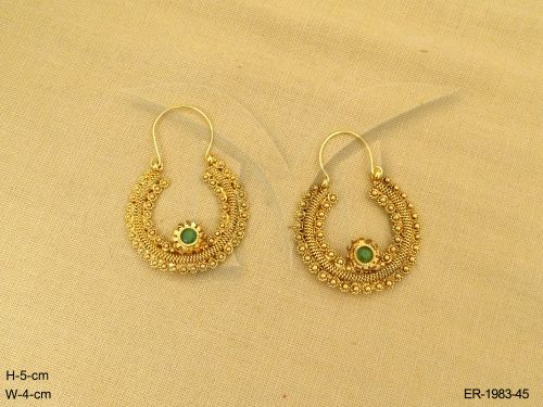 Antique Jewellery Round Polo Chand Bali Style Antique Earrings