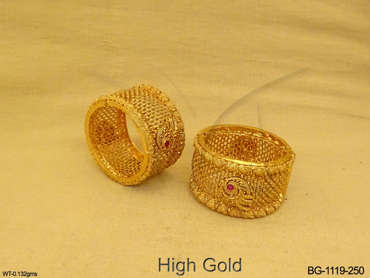 Antique Broad Style Bangles