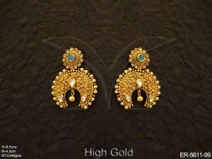 Antique Jewellery Chand bali Earring Set