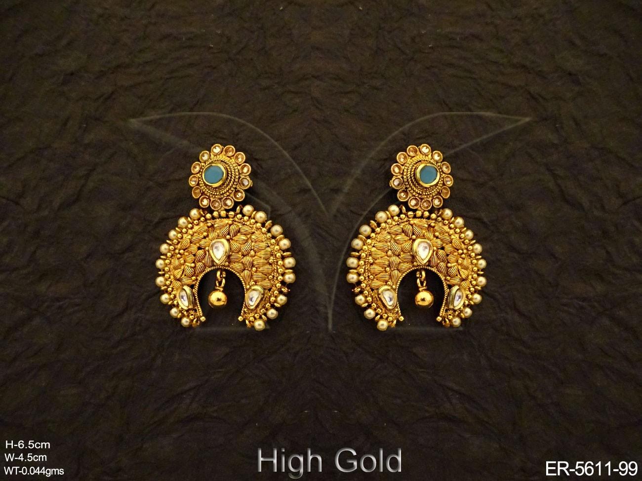 Antique Jewellery Chand bali Earring Set