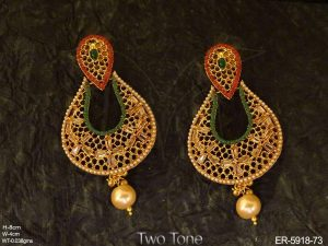 Antique Style Chandbali Earrings