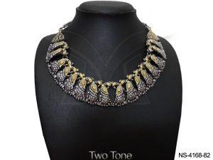 Peacock Oxidized Necklace Set