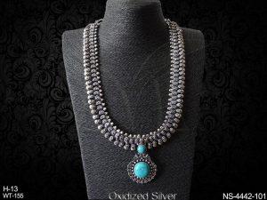 Long Oxidized Necklace Set