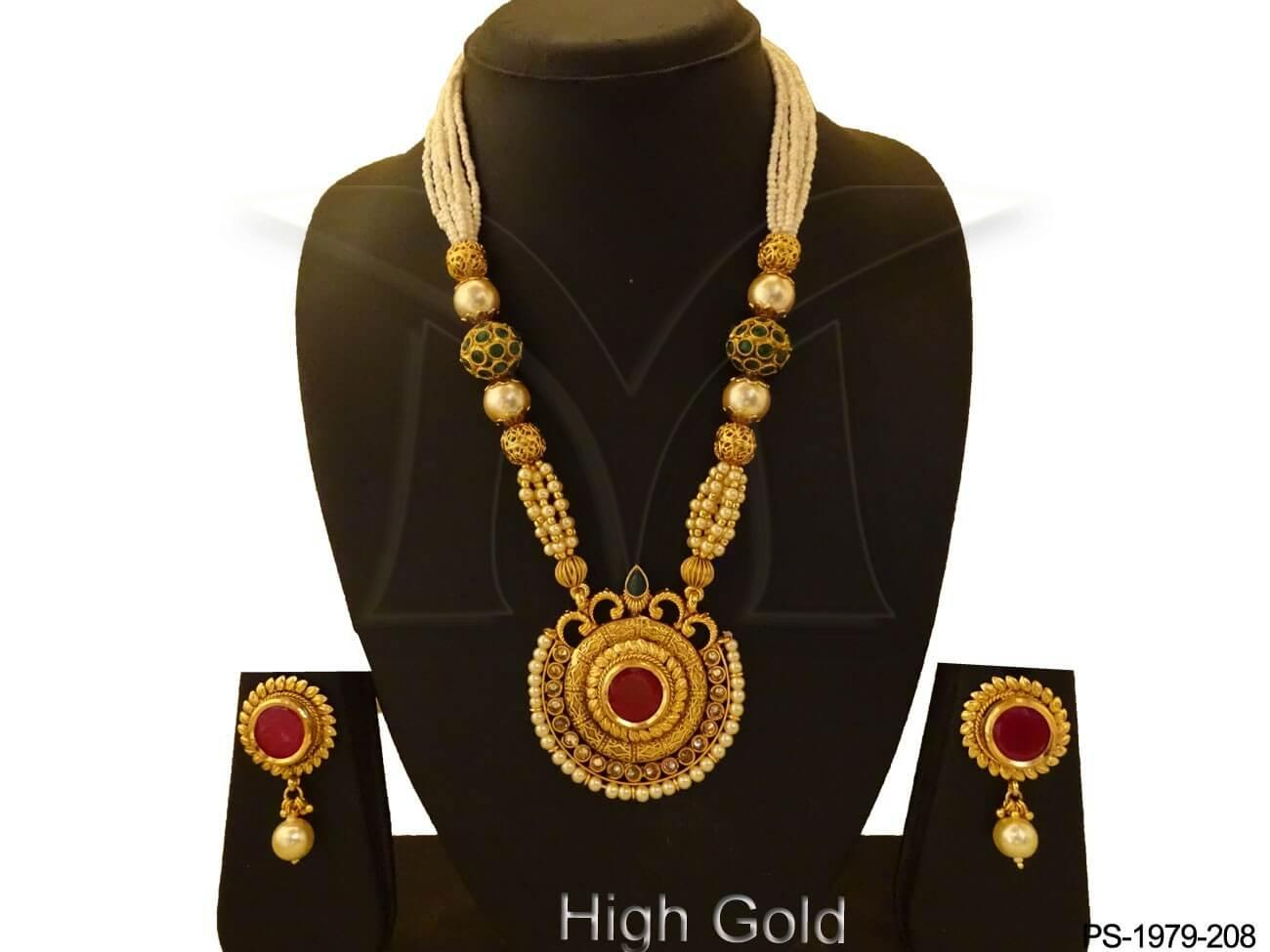 Long Designer Pendant Set
