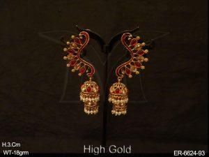 KanFul Designer Jhumki Earrings